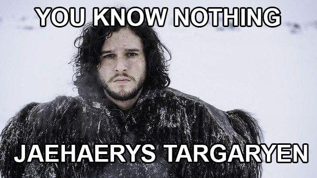 Könnte es sein, dass Jons echter Name ein bisschen … Targaryien-mäßiger ist?