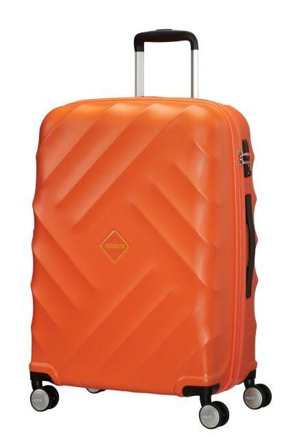 American Tourister Crystal Glow 76cm 4 Wheel Suitcase - Bright Orange