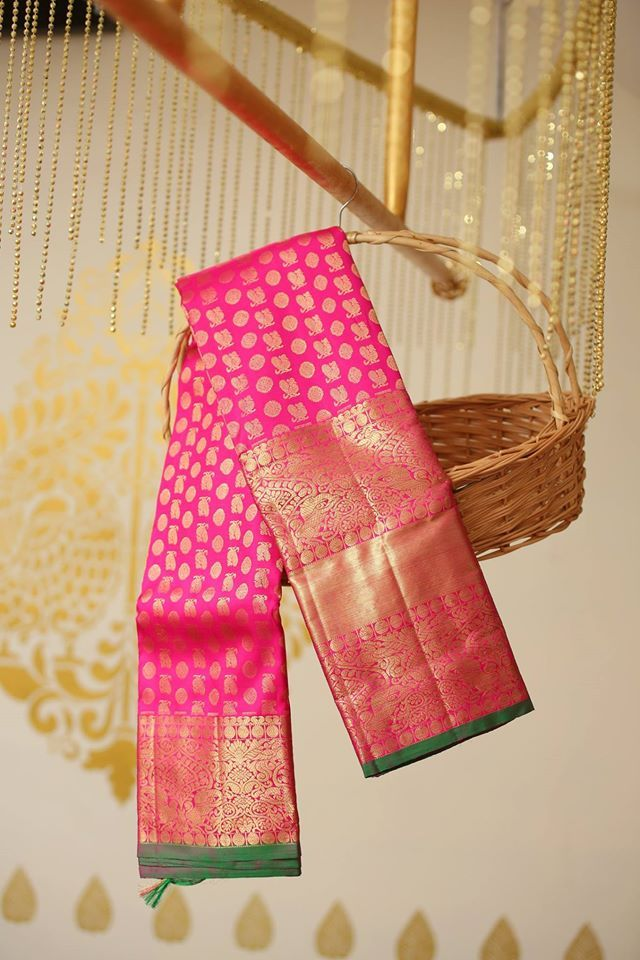 """Beautiful Kanjeevaram ,Beneres ,Ikkat, Dharmawaram…Directly from the Weavers!! So Brides now all the search for beautiful sarees is at one place.""""Vidhatri"""".. The…"""