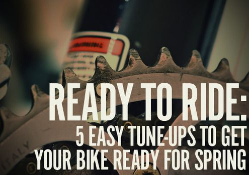 5 easy tune-ups to get your #Bike ready for Spring
