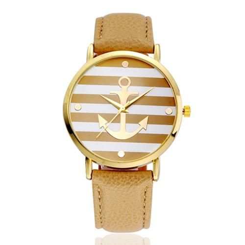Vansvar Hot Sale Leather Strap Anchor Watch Women Casual Quartz-Watches Reloj Mujer Relogio Feminino 898