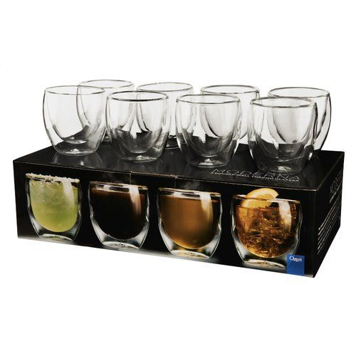 Found it at Wayfair.ca - Moderna Artisan Series Double Wall 8 oz Insulated Beverage Glasses