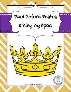 Sunday School Craft Paul Festus Agrippa