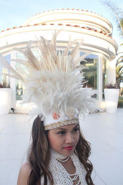 Crown White Tahitian Head Piece