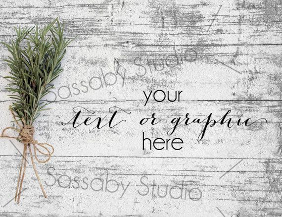 Rosemary on Wood Styled Stock Photography / by SassabyStudios