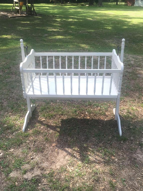 Bassinet Cradle Crib Vintage Shabby Chic Farmhouse