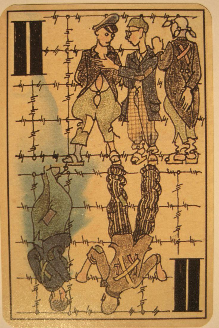 Carta de Tarot com gravura do Holocausto