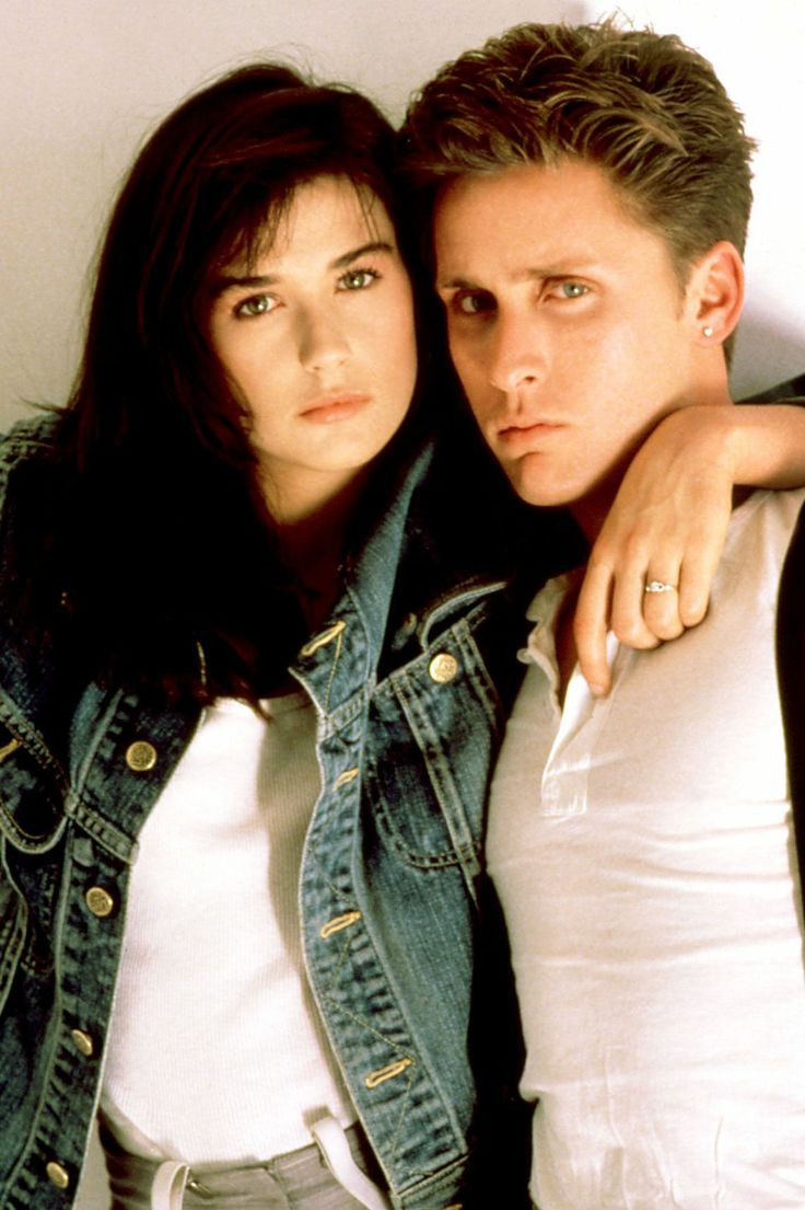 """Kind of an """"It"""" '80s couple, Demi and Emilio starred in a couple of films together, including St. Elmo's Fire, which is when they started officially dating. On an unrelated note: young Emilio Estevez was super good-looking."""