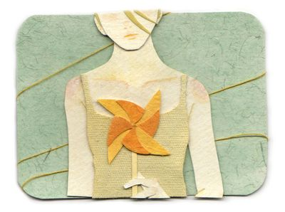 AMAZING FABRIC ART!!!  these pieces from Miki Sato are totally amazing. SO simple, but cant stop looking at them.....
