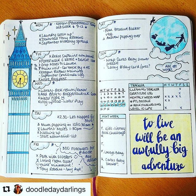 Look kids! Big Ben, Parliament. Can you name that movie? Beautiful #illustration from @doodledaydarlings. #Repost @doodledaydarlings (via @repostapp) ・・・ This week all done! On to the next layout! :muscle: