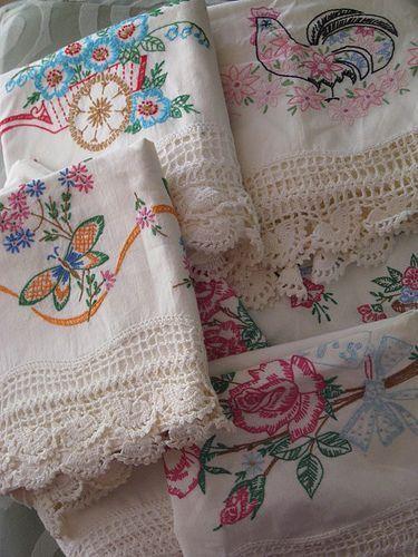 вышивкаvintage embroidered pillowcases,  @Sara Eriksson Eriksson Eriksson Steinke Bella Boutique