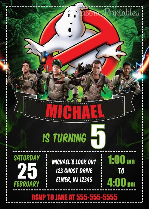 GHOSTBUSTERS INVITATION Ghostbusters Birthday Party Ghostbusters Invite Ghostbusters Party Supplies Ghostbusters Printables #ghostbusters #birthdayparty #birthdayinvitation #partyusupplies #birthdayprintables