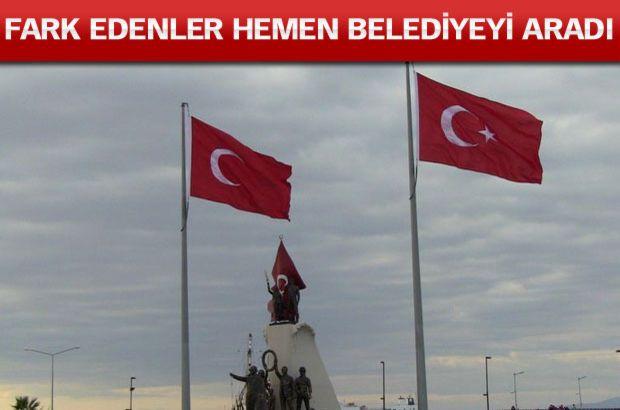 İskenderun'da Dev Türk Bayrağındaki Yıldız Olmadığını Vatandaş Farketti!