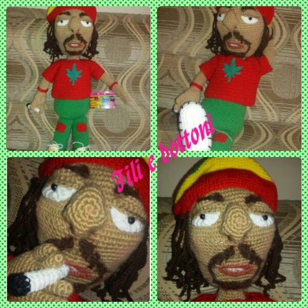 Bob Marley è stata una bella sfida! (amigurumi)