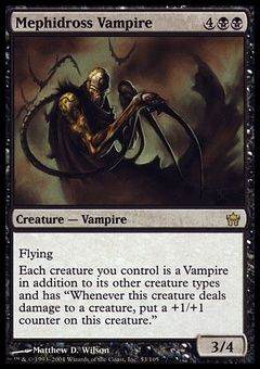 Mephidross Vampire ($4.9) Price History from major stores - Fifth Dawn - MTGPrice.com Values for Ebay, Amazon and hobby stores!