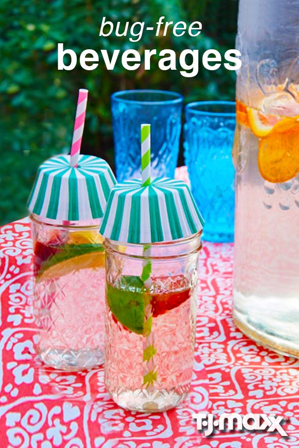 Keep everyone happy this season. Get more use out of your everyday household and kitchen items with this creative and entertaining hack. Use cupcake liners as drink toppers for a cute, clever way to keep beverages bug-free.