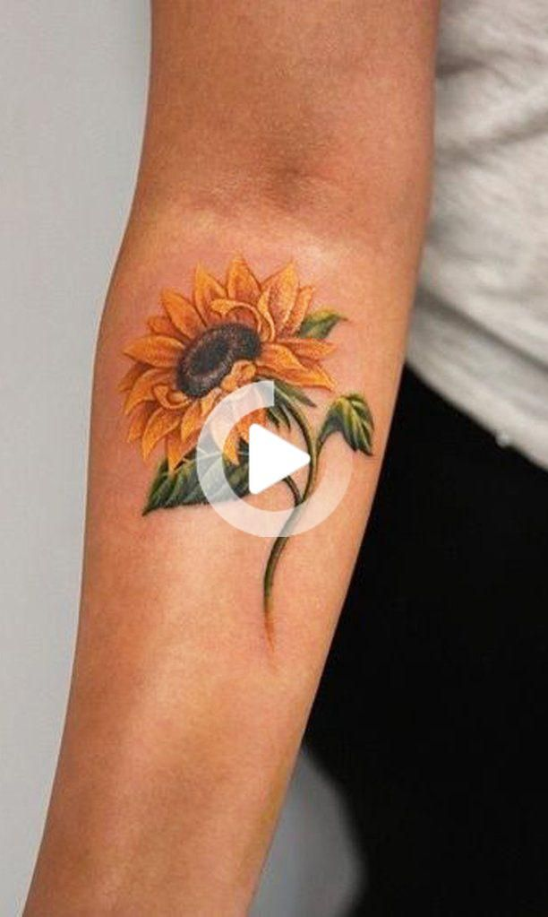 Bunte Aquarell Sonnenblume Unterarm Tattoo Ideen Fur Frauen Ideen