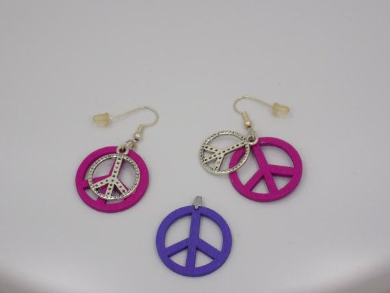 Handmade earring and pendant set