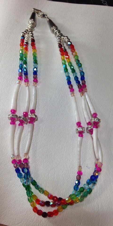 Native dentalium necklace