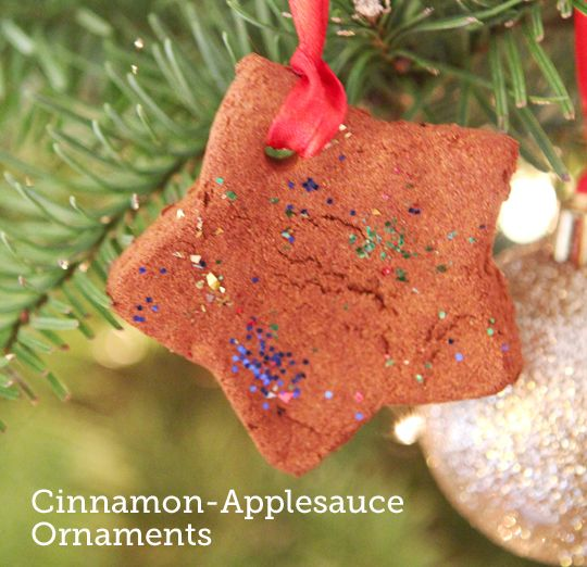 Have you made cinnamon-applesauce ornaments with the kids? They're super simple and smell SO good!
