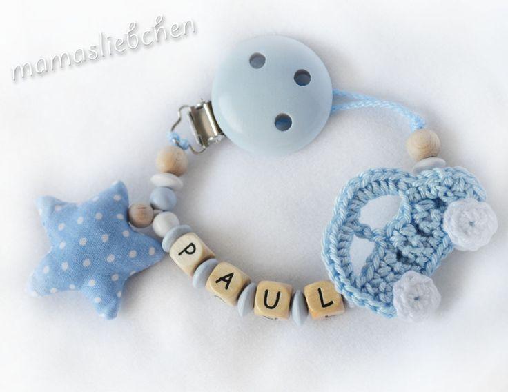 Attache-tétines chaînes, Attache-tétines chaîne est une création orginale de mamasliebchen-schnullerketten sur DaWanda