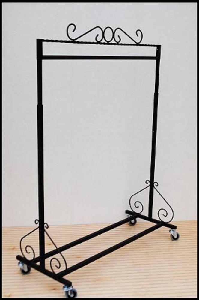 Single Bar Rolling Clothing Garment Retail Display Clothes Rack CC-10