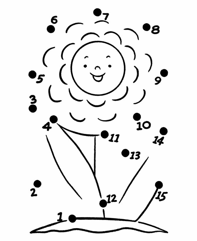 dot to dot coloring pages for preschoolers | Connect the Dots activity pages