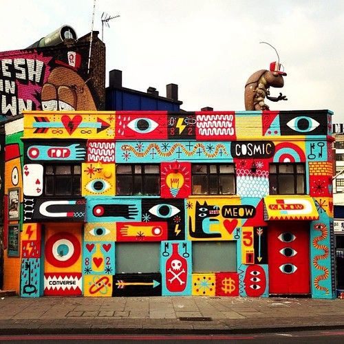 Complete. Great Easter Bear mural. For #converse with big help...