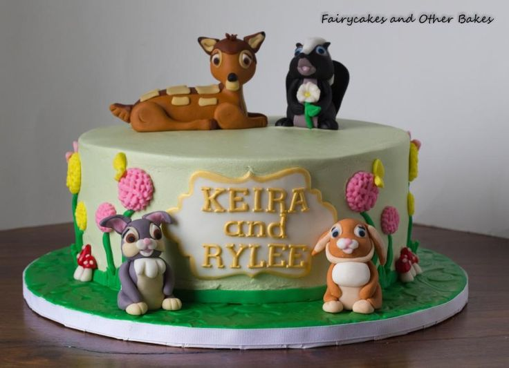 30 best Bambi Cakes images on Pinterest Cake decorating ...