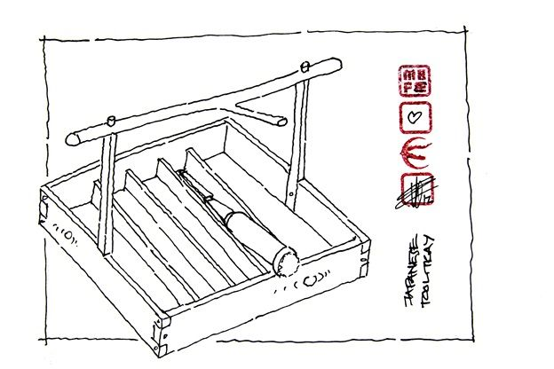 Japanese tools #16: Japanese tool tray - for the toolbox. (blog ...
