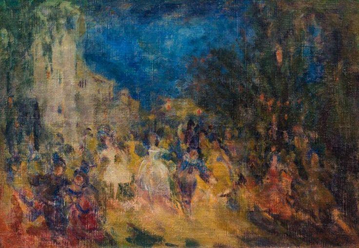 SAPOUNOV NICOLAS NICOLAIÉVITCH (1880-1920) Carnaval Huile sur toile, réentoilée Signée et datée