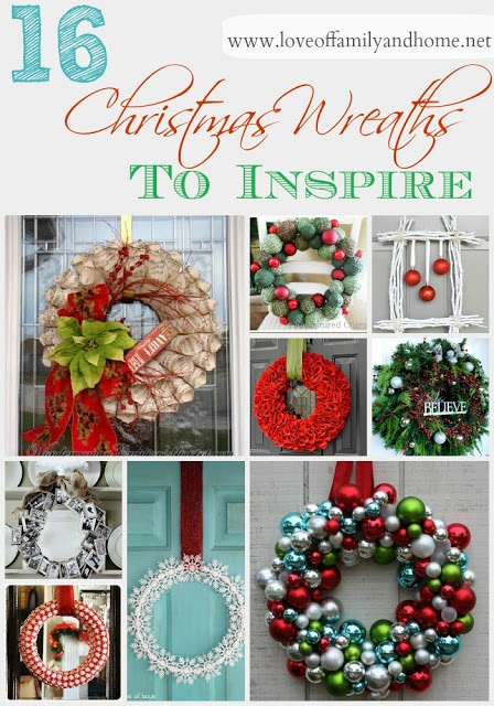 Love Of Family & Home: 16 Christmas Wreaths To Inspire....