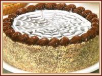 torta de chocolate negro y blanco con dulce de leche!