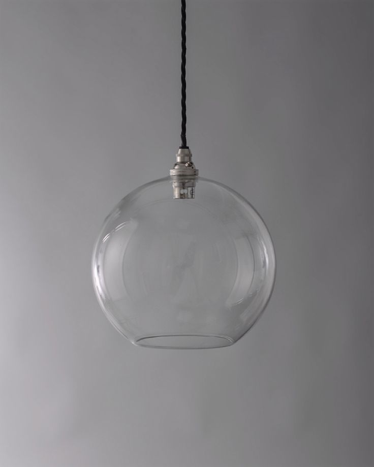 designer lighting hereford clear glass globe pendant light