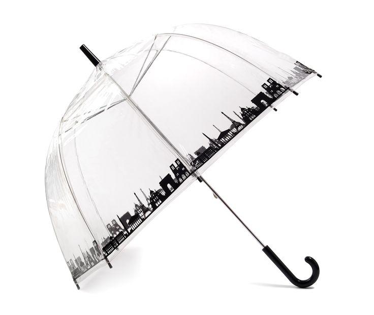 Vision Clear Dome Umbrella - Paris Skyline