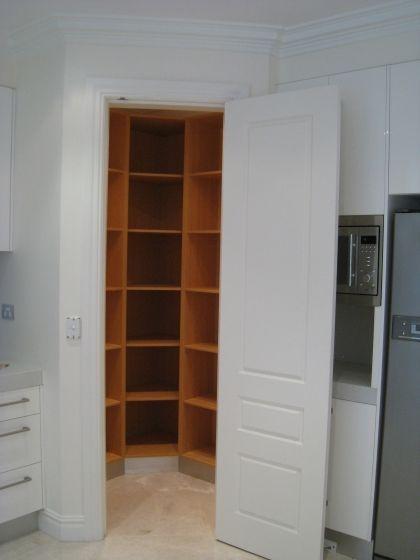 Corner pantry for the home pinterest - Corner kitchen pantry ...