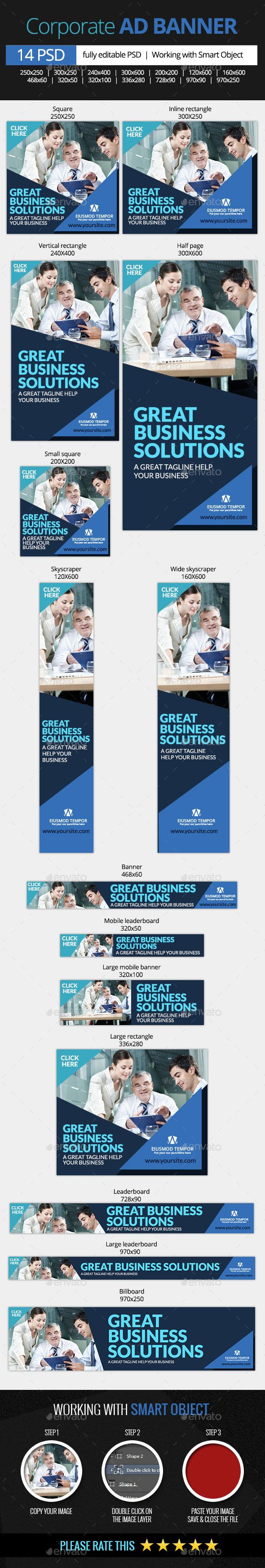 Corporate and Business Web Banners   #businessbanner #corporaebanner   Download: http://graphicriver.net/item/corporate-and-business-web-banners/10367163?ref=ksioks