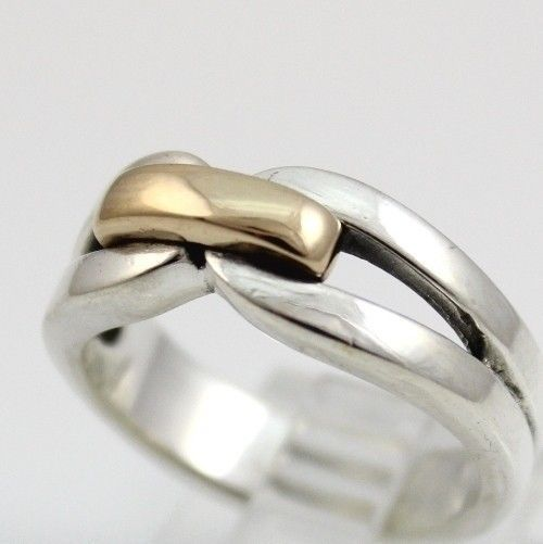 James Avery Enduring Bond Sterling Silver 14K Yellow Gold Ring #JamesAvery #Band