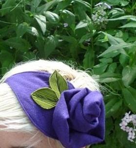 purple rose hat by morgan cleopatra