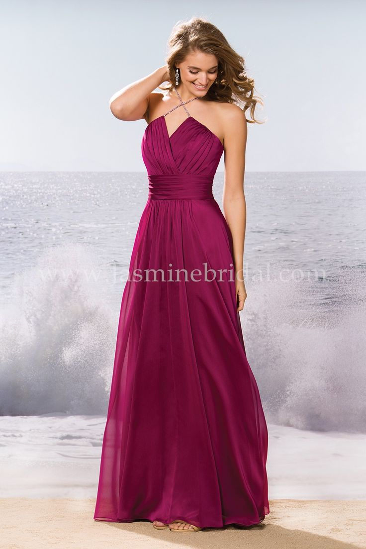 57 best fall 2015 bridesmaids images on pinterest jasmine bridal jasmine bridal bridesmaid dress belsoie style l174058 in scarlet a fashionable choice for your ombrellifo Choice Image