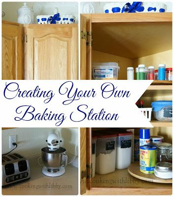 Cooking With Libby: Creating Your Own Baking Station: Baking Supplies, Baking 101, Awesome Kitchens, Cooking, Baking Zone, Baking Stations, Kitchens Dinning, Create, Baking Center