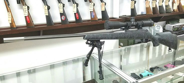 """6.5-300 Weatherby Mark V Accumark . SWFA SS 12X42 , SWFA Low Rings , Talley 20 moa Base , Harris HBLMS 9""""-13"""" Bipod."""