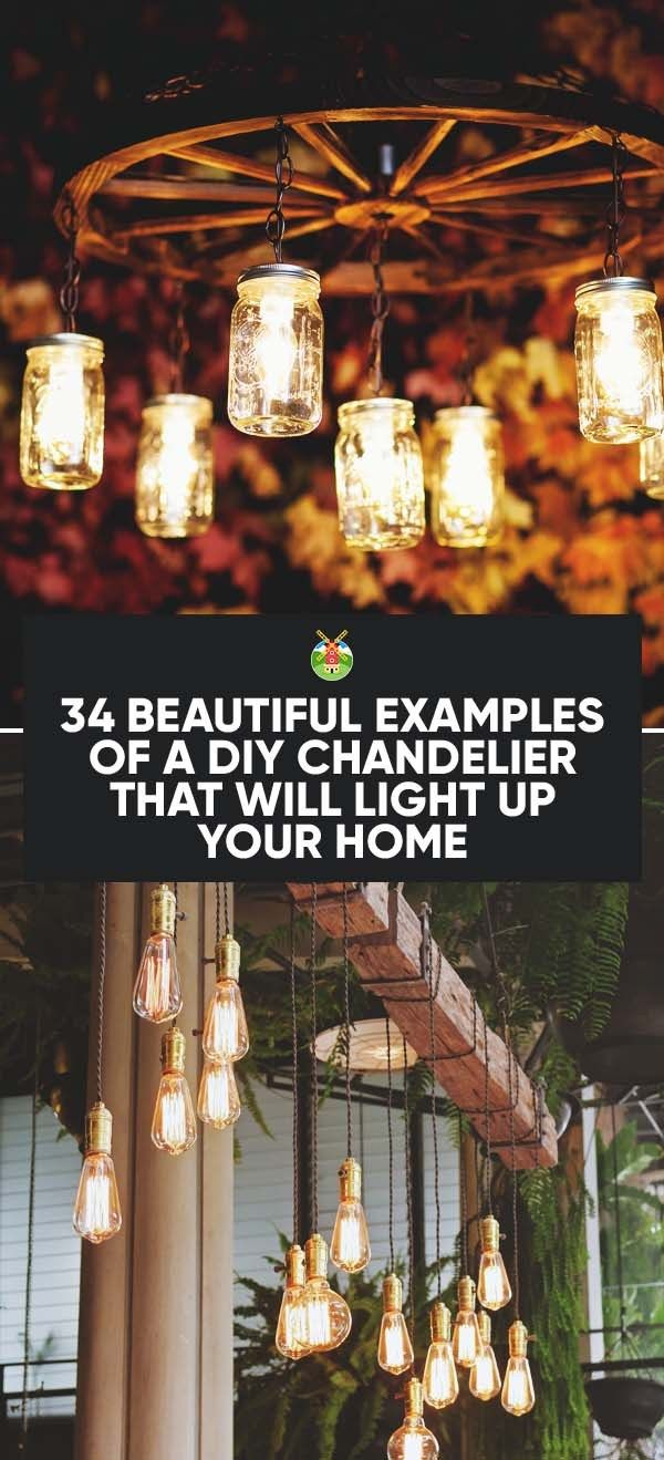 345 best chandeliers diy inspiration images on pinterest 34 beautiful diy chandelier ideas that will light up your home arubaitofo Choice Image