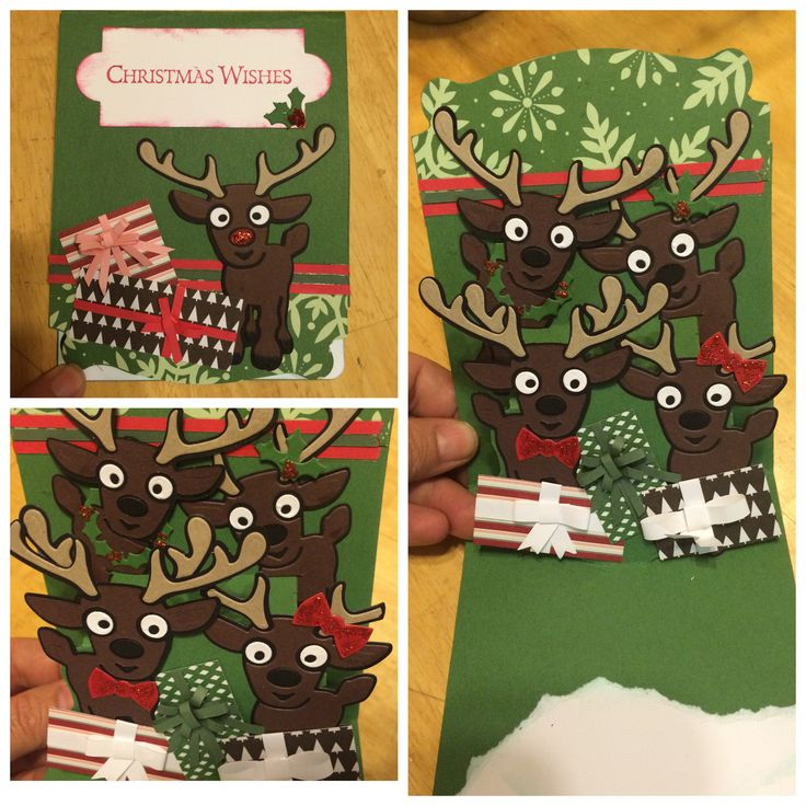 Reindeer pop up card