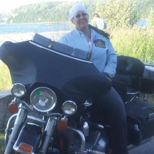 Friend Ellen Davis, Biker Chicks Michigan RG and Biker Chicks FB Groups. Taken 2011 at Sand Point by Munising, MI, USA Biker Chick