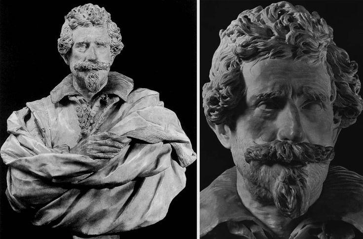 Giuliano Finelli : Buste de Michelangelo Buonarroti le jeune 1630 - Marbre - Casa Buonarroti, Florence