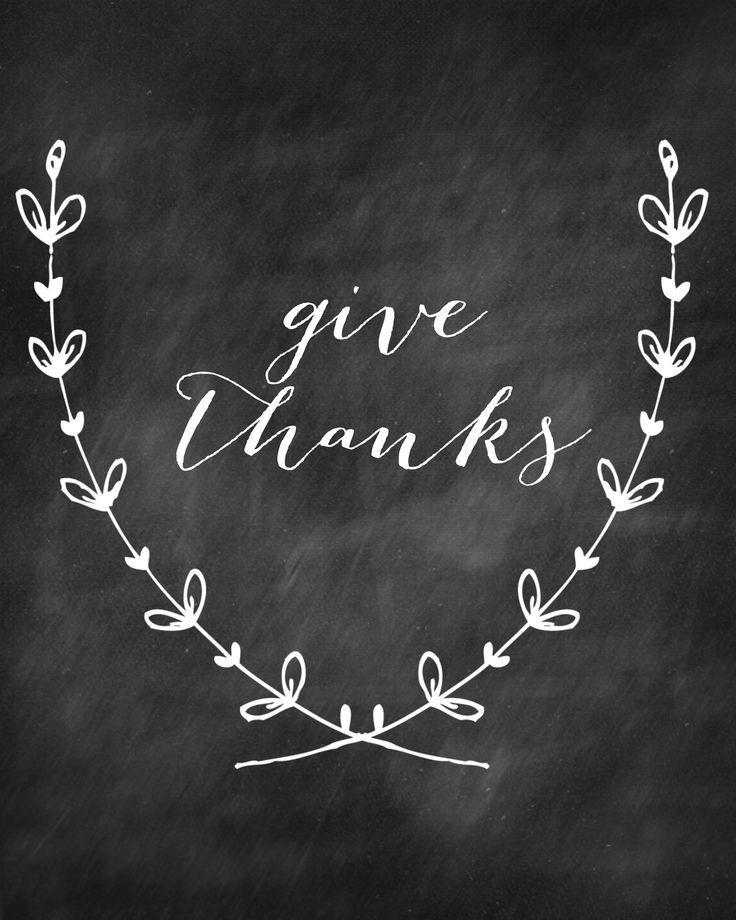 Give Thanks Free Chalkboard Printable