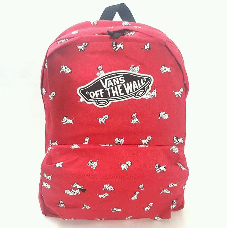 New DISNEY VANS Backpack 101 Dalmatians Dogs Red School Bag Bookbag #VANS #Backpack
