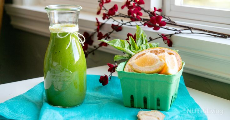 Grapefruit, Basil and Ginger Smoothie The perfect flavor profile for ...