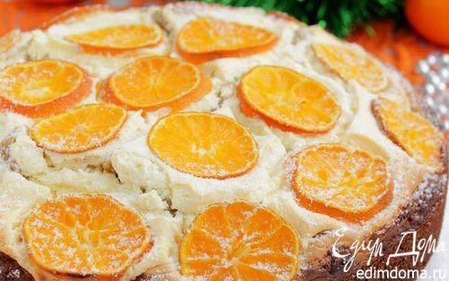 Пирог с мандаринами на Рождество | Кулинарные рецепты от «Едим дома!»